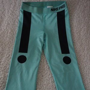 Nike Pro Aqua Cropped Leggings Exclamation Point